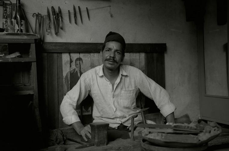 "Artwork ""Newari Silversmith, Baudhanath, Nepal"" by Fred Sigman"