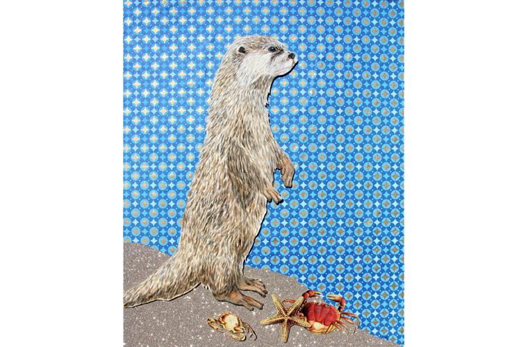 "Artwork ""Otter Above Sea and Fog"" by Myranda Bair"
