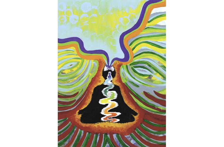 "Kaitlynne Lopez, ""Ananda's Life"", Acrylic Paint on Canvas, 16"" x 20"", 2021"