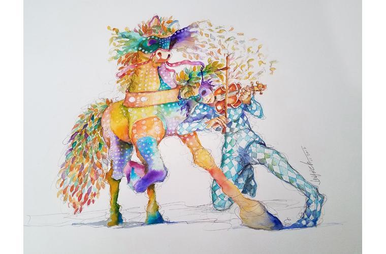 "Juan de Dios Varela Artwork ""The Tame of the Stallion"""