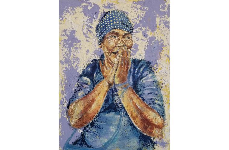 "Henry Morales Artwork ""Tia Reyna"""