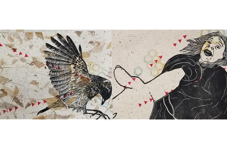 """Artwork """"June 13, 2018 12:13:06/07 PM"""" by Elizabeth Klimek"""