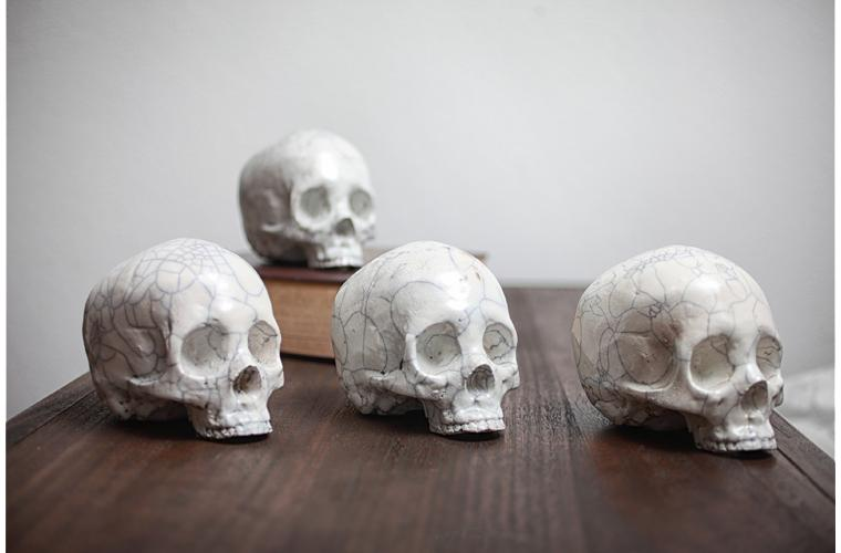 "Artwork ""Raku Skulls"" by Eric Pawloski"