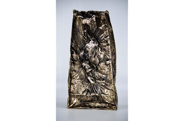 """Artwork """"Old Bag (Urn)"""" by Chris Bauder"""