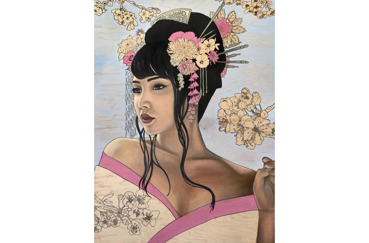"Lani McKay Artwork ""Japanese Cherry Blossoms"""