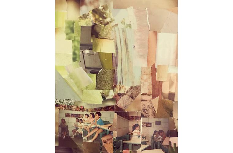 """Jeannie Hua Artwork """"The Race, Competition or Ethnicity: Collage 4"""""""