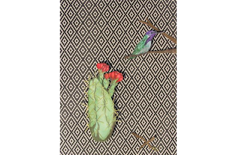 """Artwork """"Back Yard Habitat, Bob"""" by Myranda Bair"""