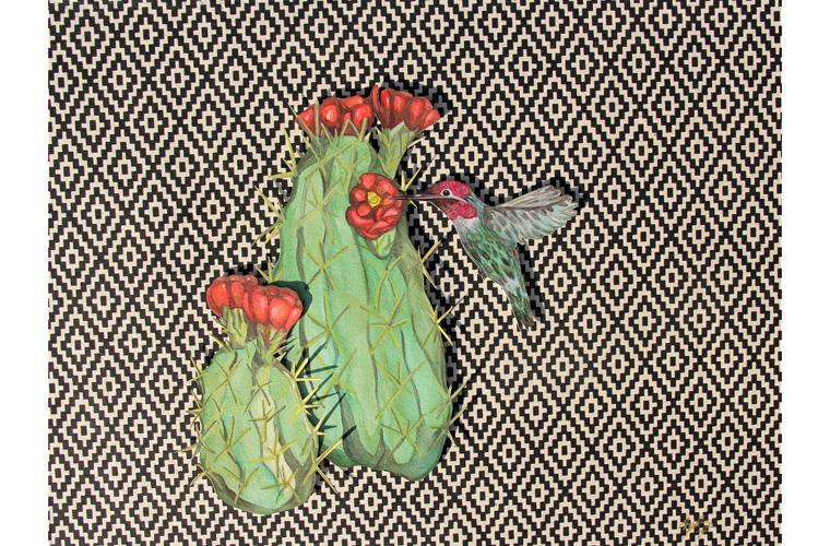 "Artwork ""Back Yard Habitat, Betty"" by Myranda Bair"