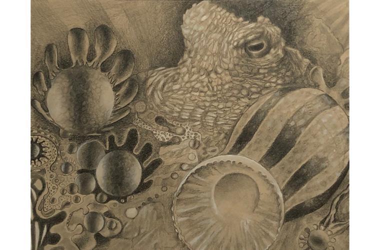"Artwork ""The Octopus's Garden, Maude"" by Nancy Deaner"