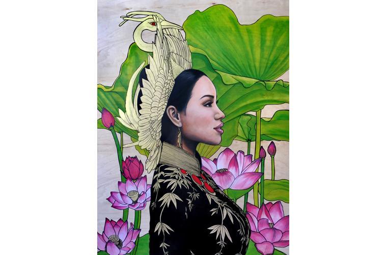 """Lani McKay Artwork """"Vietnamese Lilies"""""""