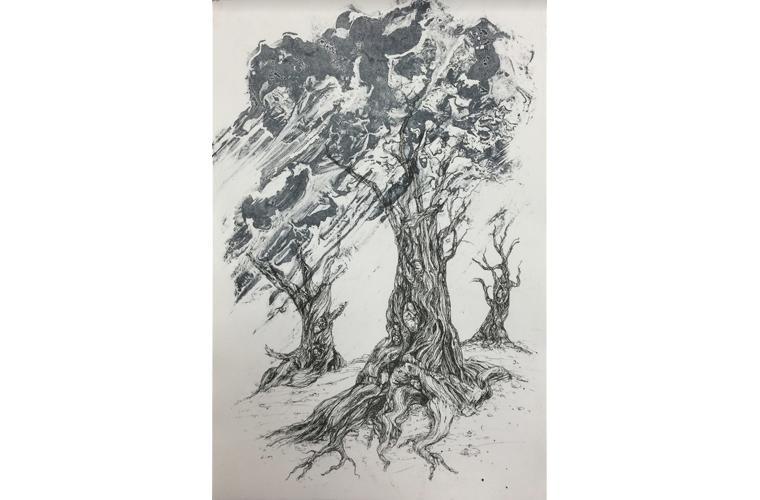 """Artwork """"Barren Brood"""" by Anne M. Hoff"""