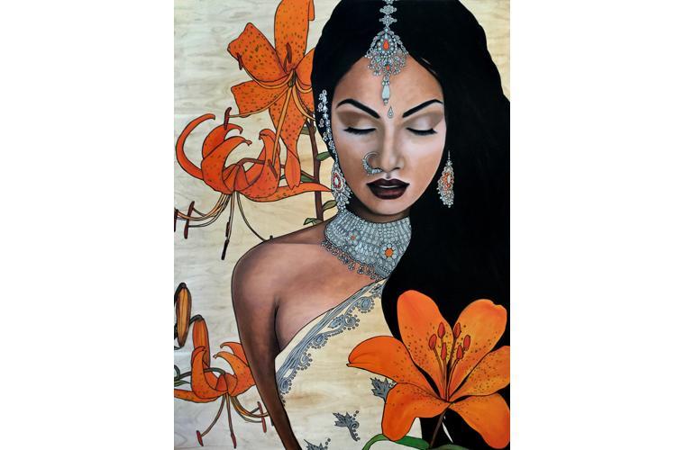 """Lani McKay Artwork """"Indian Lilies"""""""
