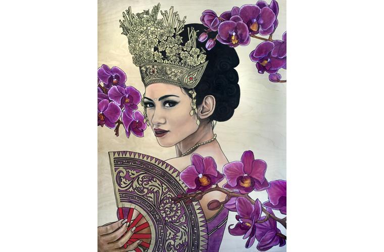 "Lani McKay Artwork ""Indonesian Orchids"""