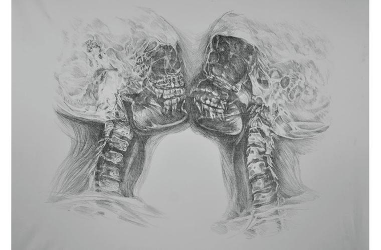 """Artwork """"Fatal Inversion"""" by Anne M. Hoff"""