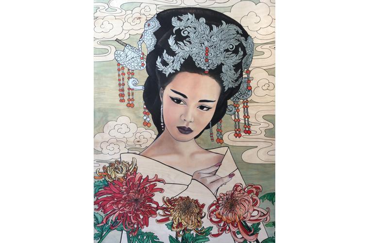 """Lani McKay Artwork """"Chinese Chrysanthemums"""""""