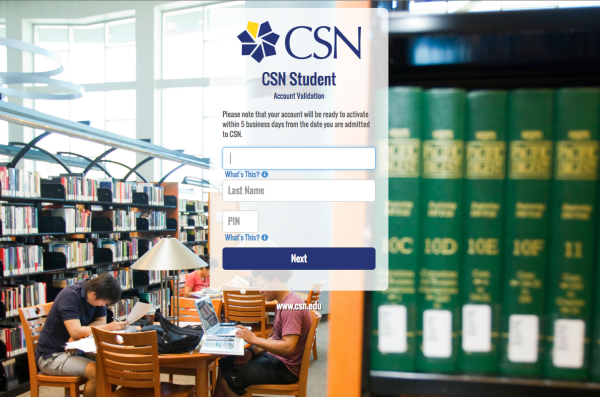 Student Network Login page