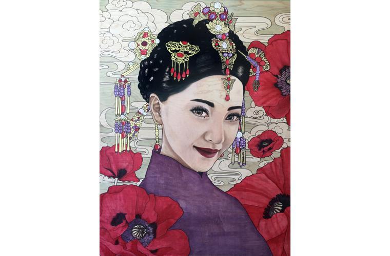 """Lani McKay Artwork """"Chinese Poppies"""""""