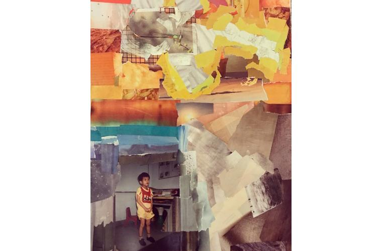 """Jeannie Hua Artwork """"The Race, Competition or Ethnicity: Collage 6"""""""