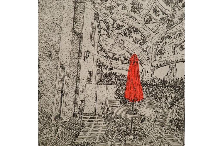 "Artwork ""The Red Umbrella"" by Daryl DePry"