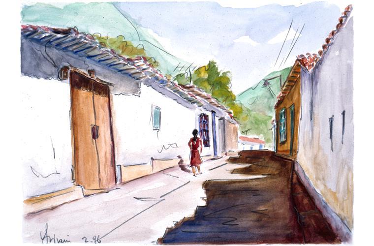 """Artwork """"Andes Street at 13,000"""" by Alfonso Lirani"""