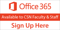 Sign up to get Office 365 for CSN Faculty and Staff