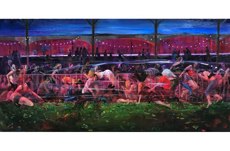 """Artwork """"Massacre at the Mandalay"""" by Suzanne Acosta"""