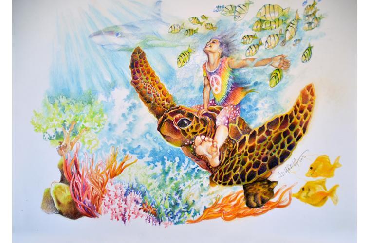 "Juan de Dios Varela Artwork ""Grandpa and Me"""