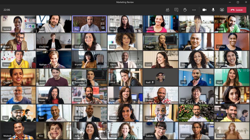 Screenshot of TEAMS meeting attendees