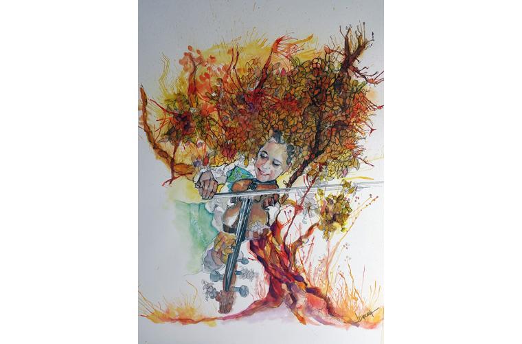 """Juan de Dios Varela Artwork """"Mexican Autumn"""""""