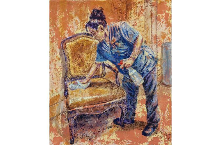 "Henry Morales Artwork ""Mí Mamá Blanca"""