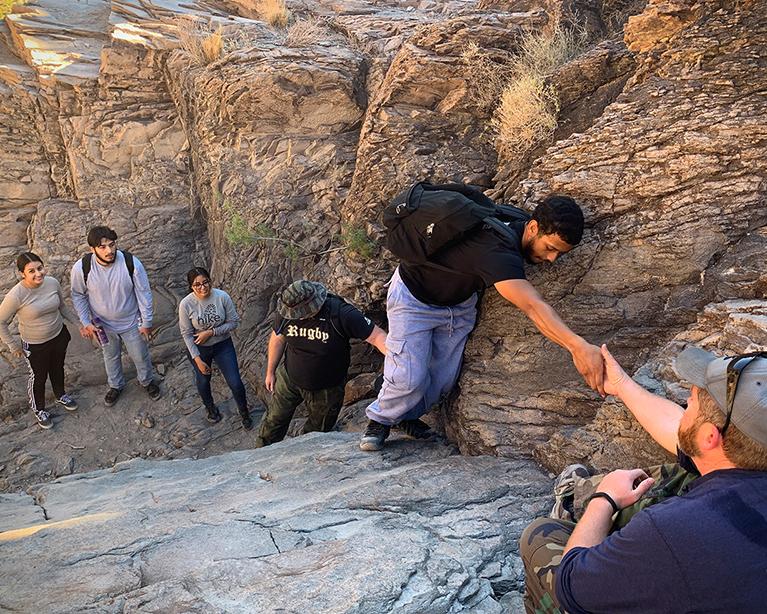 OBOC students hiking