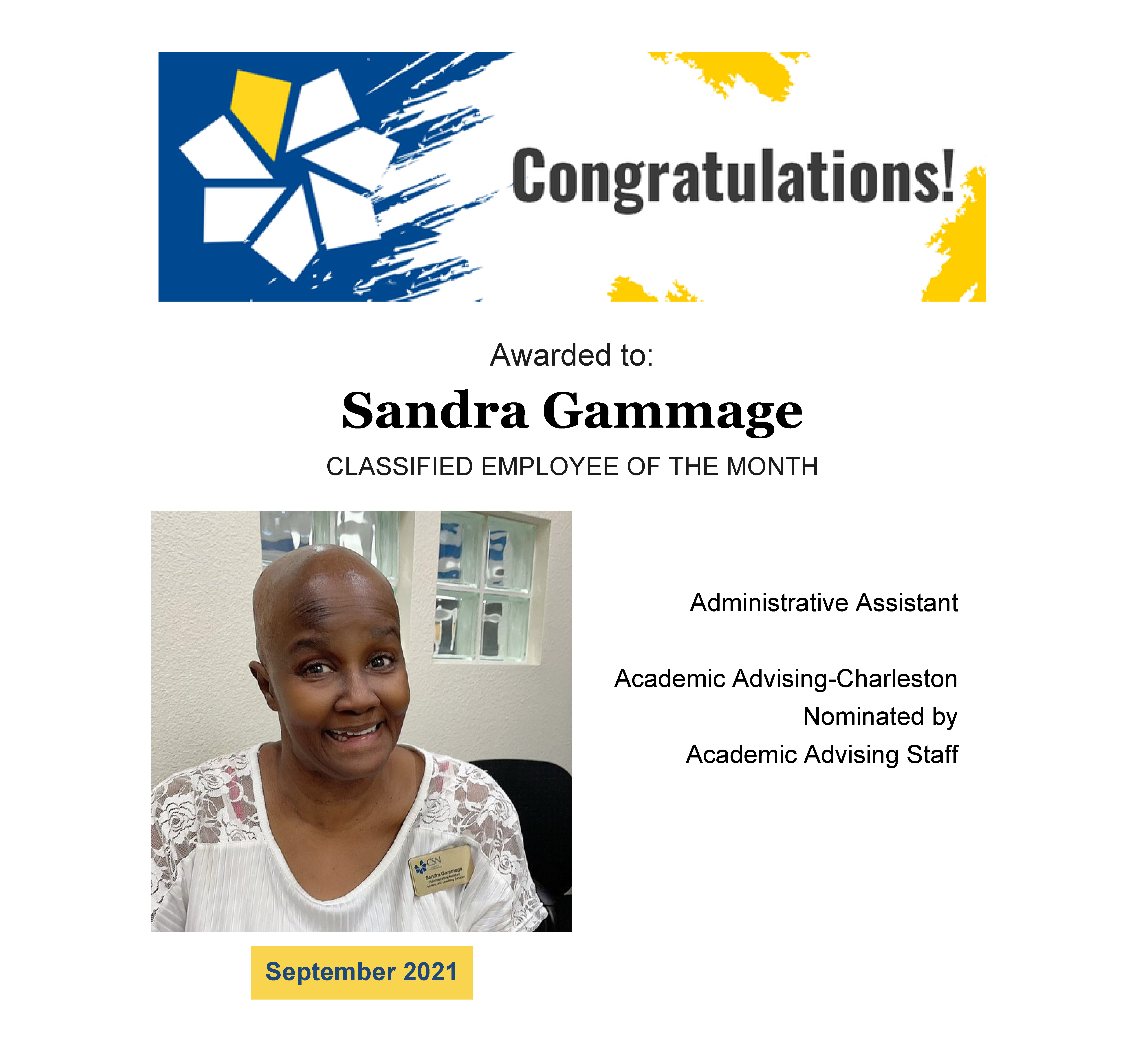 A picture of Sandra Gammage