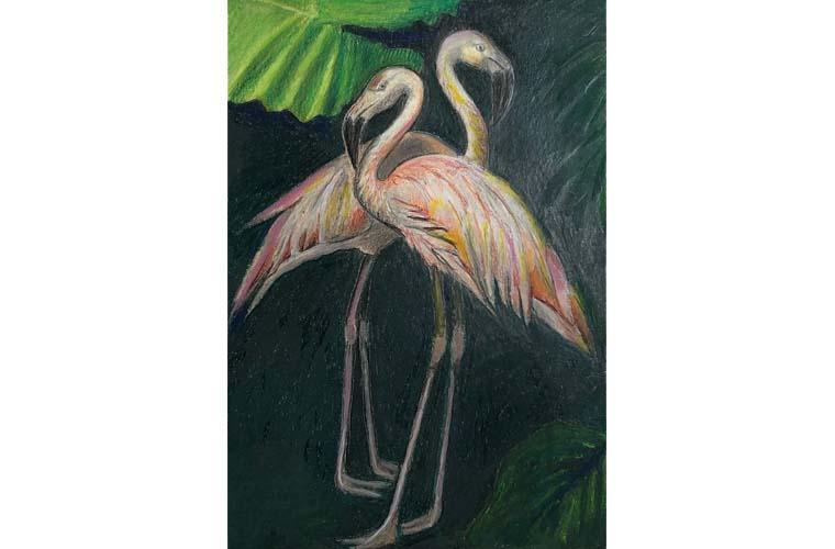 "Artwork ""The Flamingo"" by Nancy Deaner"